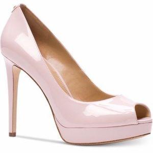 MICHAEL KORS Erica Platform Blush Pink Sz 9
